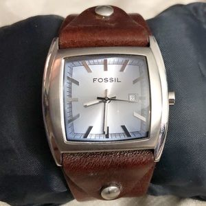 Fossil Stainless Steel Analogue Quartz Cuff Watch